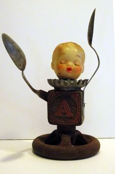 OOAK Art Doll Assemblage Spoonley the by rustybuttonstudio on Etsy, $68.00