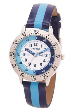 Cactus - Watch Time Teacher Striped Dark & Light Blue (CAC-88-M04)