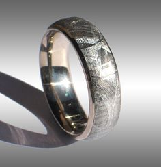 Meteorite ring. This is awesome!-tiff