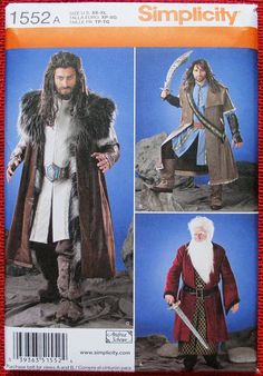 Game of Thrones Costume Pattern. Cheapest Shipping, Simplicity 1552 LOTR Costume Pattern. Live Action Role Playing Pattern Sz:XS-XL. by FashionSew on Etsy