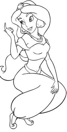 http://colorings.co/disney-princess-coloring-pages-jasmine/ #Coloring, #Jasmine, #Disney, #Princess, #Pages
