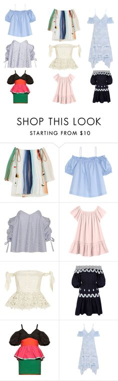 """""""Off-The-Shoulder Trend"""" by cestlestyleofficial on Polyvore featuring Chloé, H&M, Caroline Constas, Rebecca Taylor, self-portrait, Peter Pilotto and Isa Arfen"""