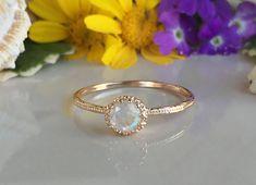 20% off SALE Rainbow Moonstone Ring Genuine by HolyLandJewelry