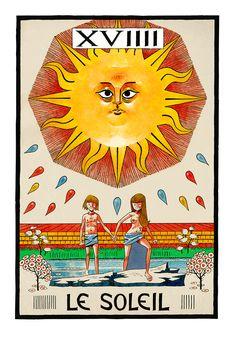 XIX. The Sun - Jamie Hewlitt Tarot by Jamie Hewlitt