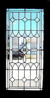 Antique leaded  and beveled glass door
