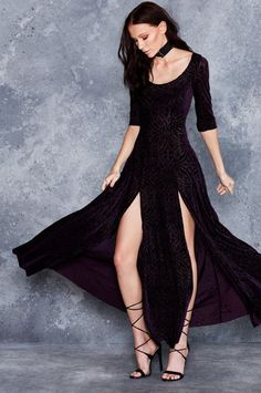 L - LIMITED - Black Milk Aubergine Long Sleeve Maxi Dress. RRP $130  #BlackMilk #BlackMilkPins #BlackMilkLimited