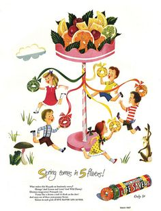 Round and round the Maypole of delicious Lifesavers fun!