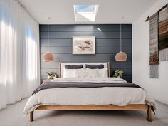 The stunning Master bedroom at Barefoot Bay Villa. Located in Byron Bay the Villa's 5 bedrooms are. Contemporary Bedroom Decor, Modern Master Bedroom, Modern Bedroom Design, Master Bedroom Design, Home Decor Bedroom, Bedroom Designs, Modern Bedrooms, Bedroom Ideas, Couple Bedroom Decor