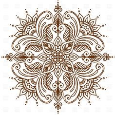 round ornament vector - Google Search More