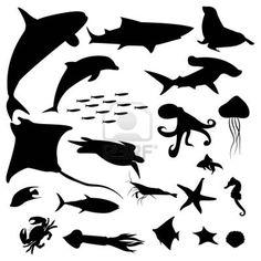 dd82a7d6aa559e sea animals silhouettes Shark Silhouette