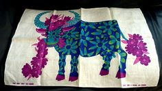 Cow tea towel for Oxfam