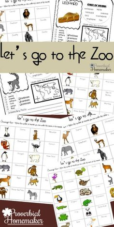 This Zoo printable pack will making learning at the zoo fun for your children!
