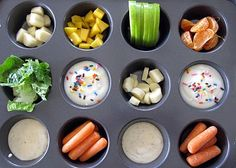 This is a whole website about muffin tin meals - I love that idea. I know it's meant for kids, but Lance and I love these types of little-bite-of-everything meals. Great way to make your kids eat though.