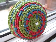 how to make coiled paper basket - Google Search