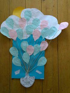 Cadeau voor zwangere juf.  Wordt het een jongetje of een meisje? En wat vind jij een mooie naam? Gemaakt door kinderen uit groep 3.