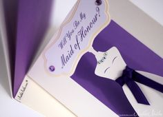 Bridesmaid 3D Wedding Invitations | 2012 Wedding Stationery by NulkiNulks.com