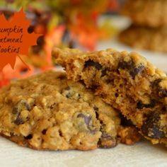 Pumpkin Oatmeal Chocolate Chip Cookies - Little Dairy On the Prairie