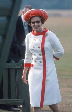 1976 Queen Elizabeth attends a polo match at Windsor Great Park.