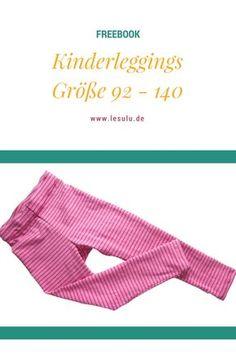 Freebook Kinderleggings 92 - 140
