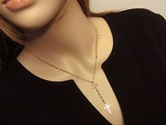 Gold Rosary Necklace Solid 14kt Gold QUALITY AAA by PowersThatBead