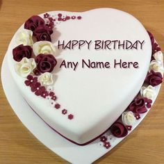 Create Rose Birthday Cake image with Name editor for your friends, family or lovers. You can also search our name editor for Chocolate Birthday Cakes, Yummy Birthday Cakes, Vanilla Birthday Cake, birthday heart cake image, images of birthday cakes for wife ...