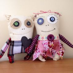 The happy couple - monster softies!