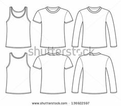 Shirt Template Vector  Roupa Masculina    Template