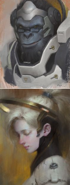 Winston & Mercy Portraits - https://www.artstation.com/artist/chome