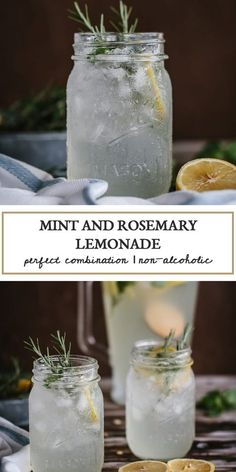 A refreshing Mint and Rosemary Lemonade Recipe flavored with vanilla seeds. This is a great lemonade recipe made from scratch that you can serve in all your summer gathering for everyone in your family. Fancy Drinks, Cocktail Drinks, Refreshing Drinks, Summer Drinks, Spring Cocktails, Rosemary Lemonade, Non Alcoholic Drinks, Beverages, Comida Picnic
