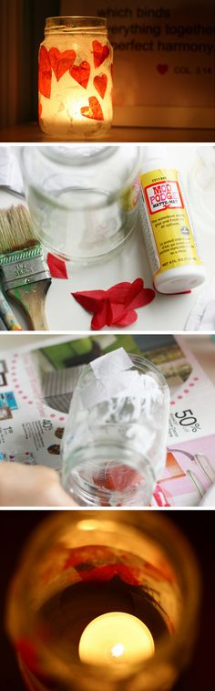 Romantic Red Heart Votive Holder | Click Pic for 22 DIY Valentine Gifts in a Jar for Men | DIY Valentine Gifts for Friends