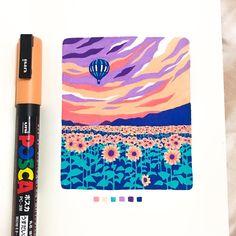 Marker Kunst, Marker Art, Kunst Inspo, Art Inspo, Art And Illustration, Pretty Art, Cute Art, Stylo Art, Posca Art