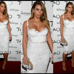 2 Piece Crop Set Off white lace 2 piece crop set. Worn once for a couple of hours.. No holes in excellent condition! bebe Dresses