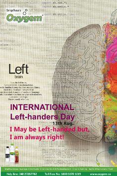 I May be Left-handed but, I am always right! International Left Handers Day, Pipeline Project, Benefits Of Drinking Water, Water Branding, Create Awareness, Left Handed, Things To Come, Pure Products