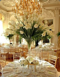 all white wedding - PERFECT for our black and white wedding!