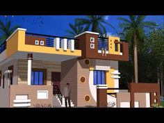 Most beautiful small house front elevation designs House Wall Design, Single Floor House Design, Bungalow Haus Design, House Outside Design, Village House Design, Kerala House Design, House Front Design, House Design Photos, Small House Design