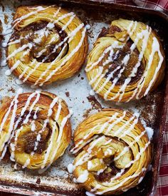 Apple and sultana breakfast pastries from The Great British Bake Off Great British Bake Off, Bake Off Recipes, Baking Recipes, Apple Recipes, Strudel, Breakfast Pastries, Danish Pastries, Apple Breakfast, Brunch