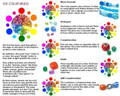 Beading Color Wheel from Cousin® Jewelry Making Tutorials, Beading Tutorials, Beading Patterns, Beaded Jewelry, Handmade Jewelry, Wire Jewelry, Jewelery, Beaded Bracelets, Diy Jewelry Inspiration