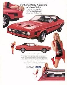 Vintage Mustang ad from 1971.
