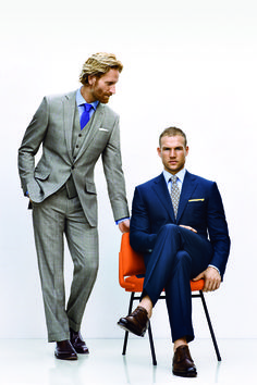 Every man should own a gray and navy suit.