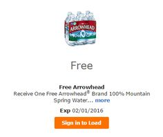 FREE Arrowhead Brand 100% Mountain Spring Water at Fred Meyer - http://ift.tt/1P3zziX