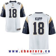 894b518b Men's 2017 NFL Draft Los Angeles Rams #18 Cooper Kupp White Road Stitched  NFL Nike Elite Jersey