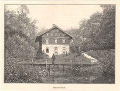 Antique print Beekhuizen Biljoen Hotel Rheden Velp houtgravure prent 1887
