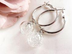 Perlenschlösschen - VERSILBERTE CREOLEN MIT MINI GLASPERLEN
