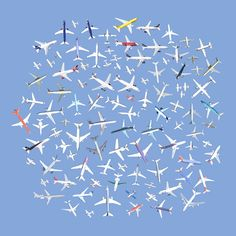 104 Airplanes . Jenny Odell has taken common sights from Google Maps satellite images, clipped them out and arranged them in a way to draw attention to the things we create.
