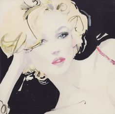 Beauty by David Downton blank greeting card ADD-2