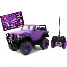 Remote Control Kids Toy Big Foot Jeep Girls Deco Stickers Playing Purple/Black #easy_shopping08