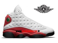 sale retailer 3a474 c9270 Air Jordan 13 Retro - Chaussures Baskets Offciel Pas Cher Pour Homme Blanc  Noir Rouge 2017