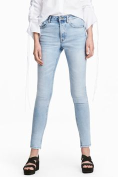 Skinny High Ankle Jeans - Azul denim claro - SENHORA   H&M PT 1