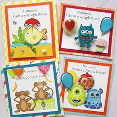 Tarjetas presentación hermanitos . Crafts by Iris , Panamá Hazte fan: Facebook Crafts by Iris instagram @craftsbyiris