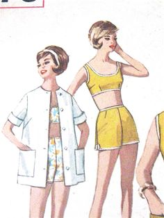Vintage 60s Simplicity 4976 Misses' Dress Shirt Lined by Fancywork
